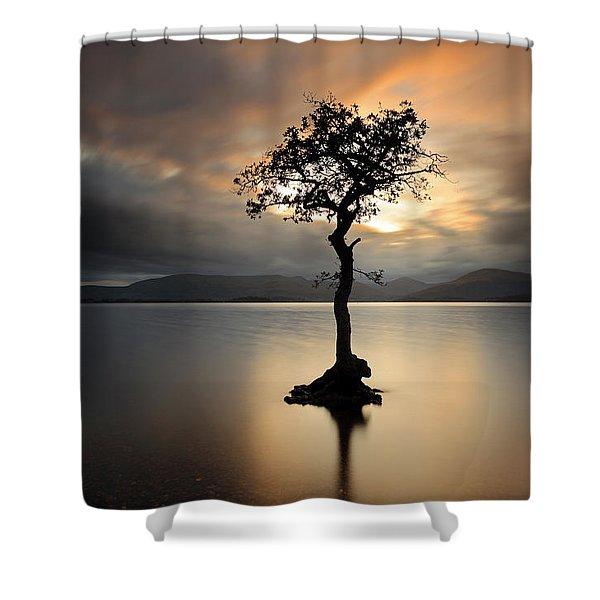 Loch Lomond Sunset Shower Curtain