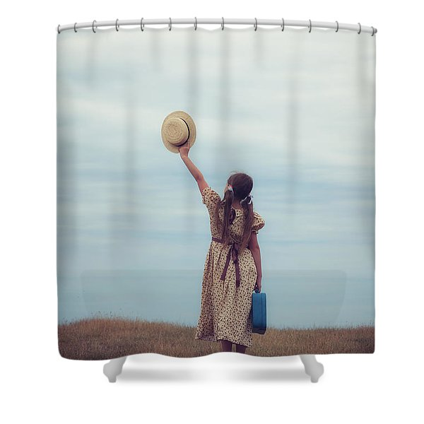Refugee Girl Shower Curtain