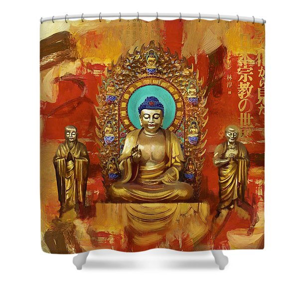 South Asian Art  Shower Curtain