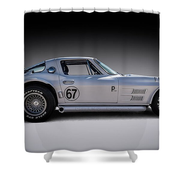 '67 Vette Shower Curtain