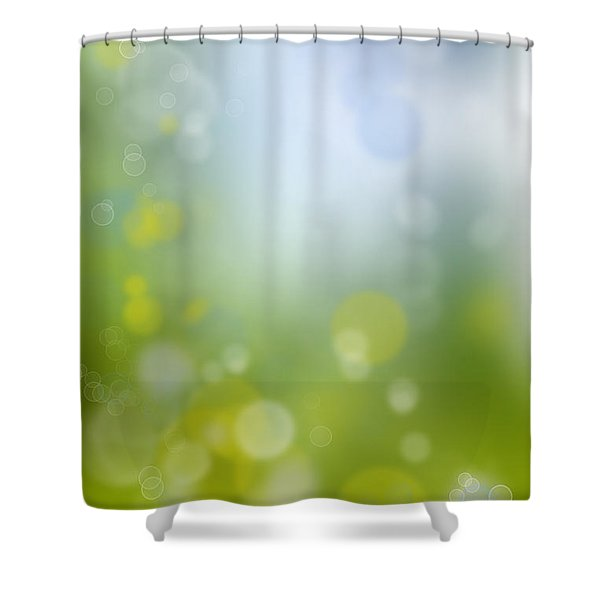 Abstract Circles 47 Shower Curtain