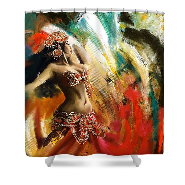 Abstract Belly Dancer 19 Shower Curtain