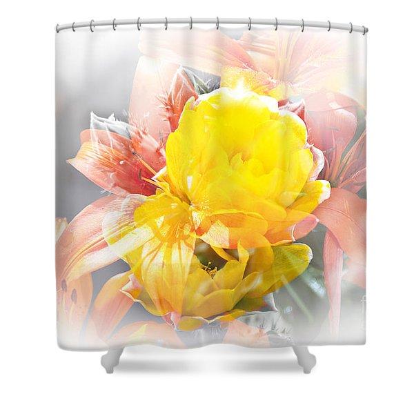 Shower Curtain featuring the photograph Flower Burst by Gunter Nezhoda