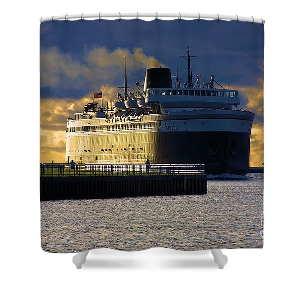 S.s. Badger Shower Curtain