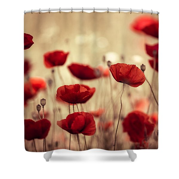 Summer Poppy Shower Curtain