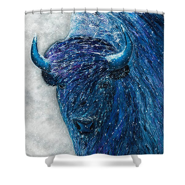 Buffalo  - Ready For Winter Shower Curtain