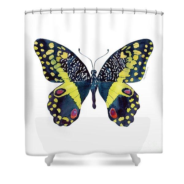 73 Citrus Butterfly Shower Curtain