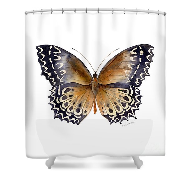 77 Cethosia Butterfly Shower Curtain