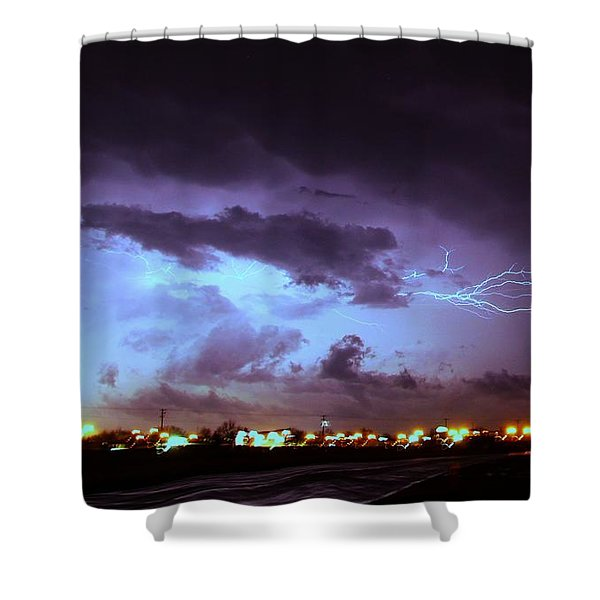 Shower Curtain featuring the photograph Our 1st Severe Thunderstorms In South Central Nebraska by NebraskaSC