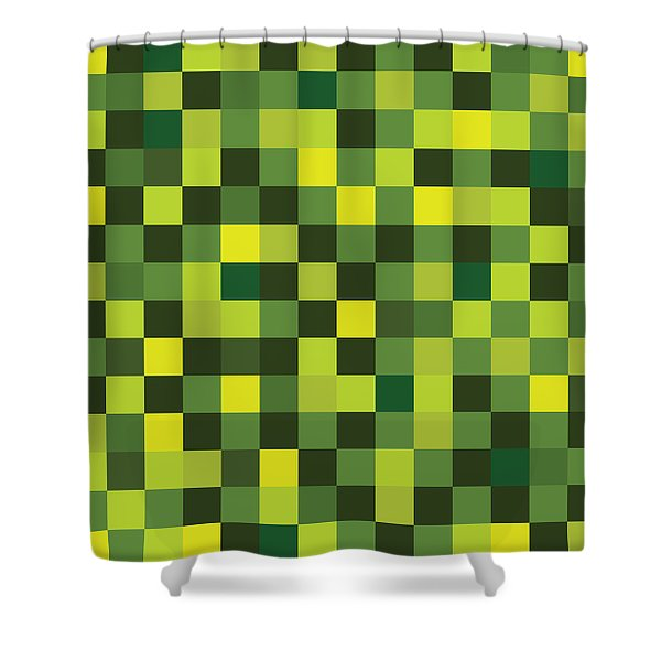 Pixel Art Shower Curtain