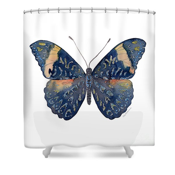 89 Red Cracker Butterfly Shower Curtain