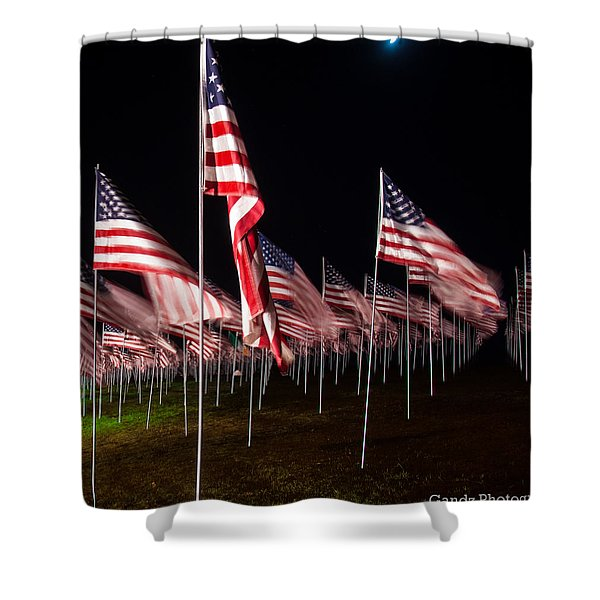 9-11 Flags Shower Curtain