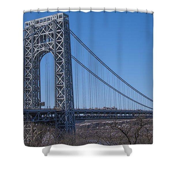 George Washington Bridge Shower Curtain