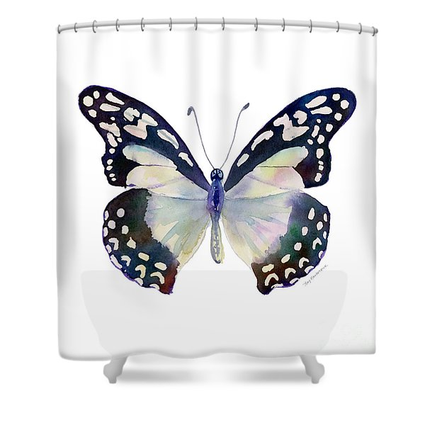 90 Angola White Lady Butterfly Shower Curtain
