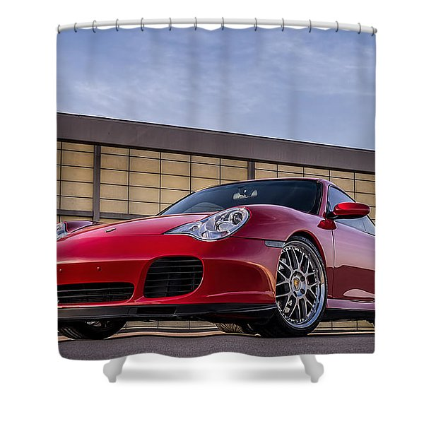 911 Twin Turbo Shower Curtain