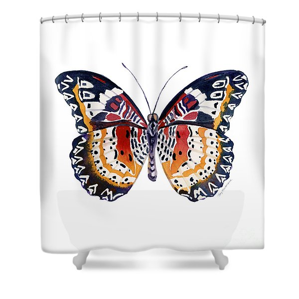 94 Lacewing Butterfly Shower Curtain
