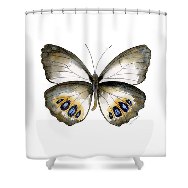 95 Palmfly Butterfly Shower Curtain