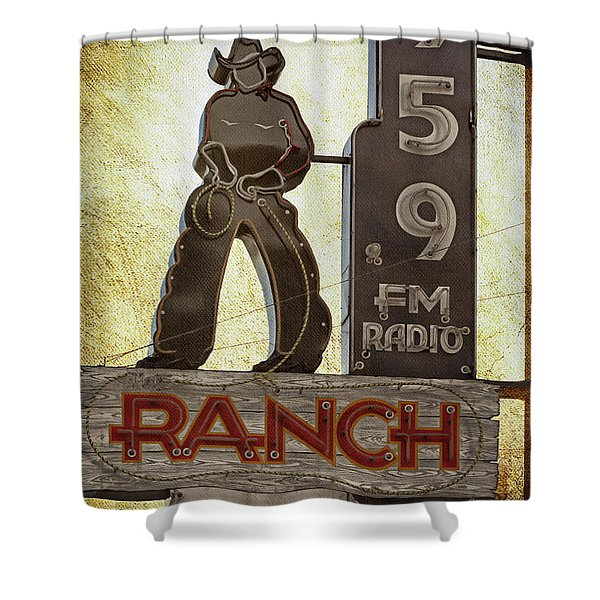 95.9 The Ranch Shower Curtain