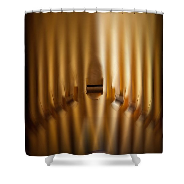 A Blur Of Pipes Shower Curtain