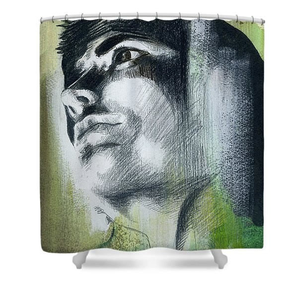 A Boy Named Persistence Shower Curtain