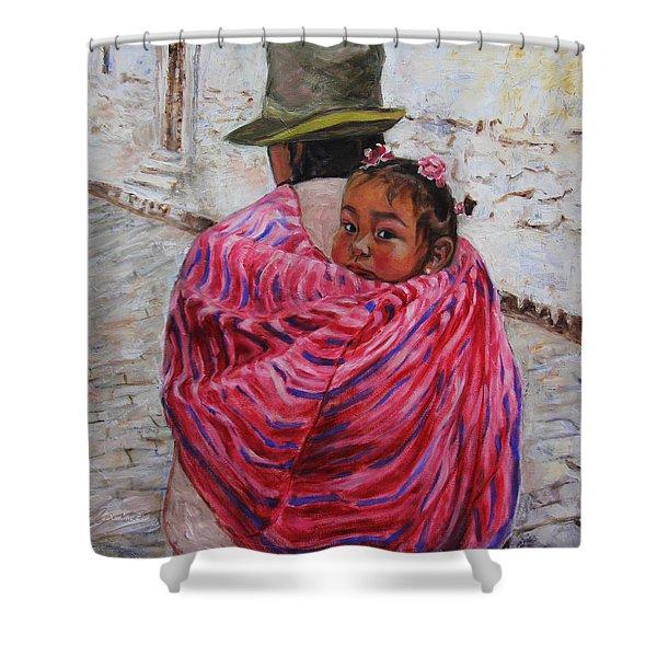 A Bundle Buggy Swaddle - Peru Impression IIi Shower Curtain