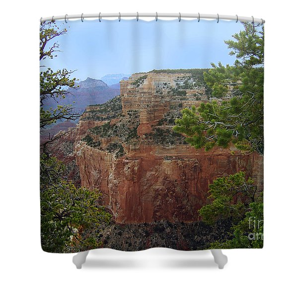Shower Curtain featuring the photograph A Cape Royal Plateau by Charles Robinson