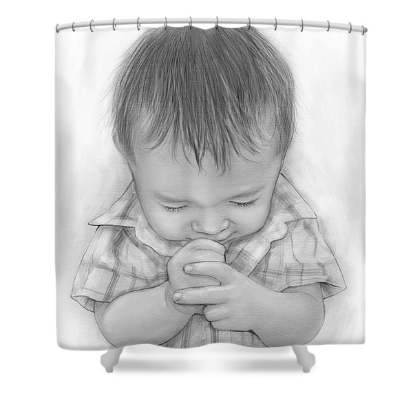 A Child's Payer Shower Curtain