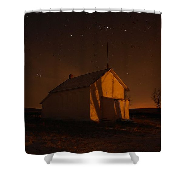 A Church Under The Stars  Shower Curtain