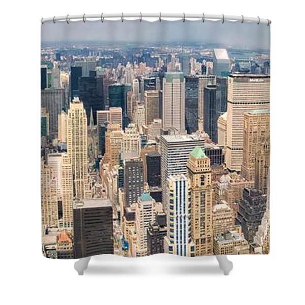 A Cloudy Day In New York City   Shower Curtain