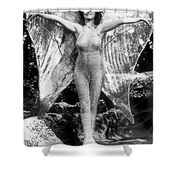 A Coral Gables Butterfly Woman Shower Curtain