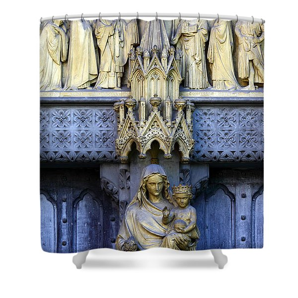 A Crown For Mary And Jesus Shower Curtain