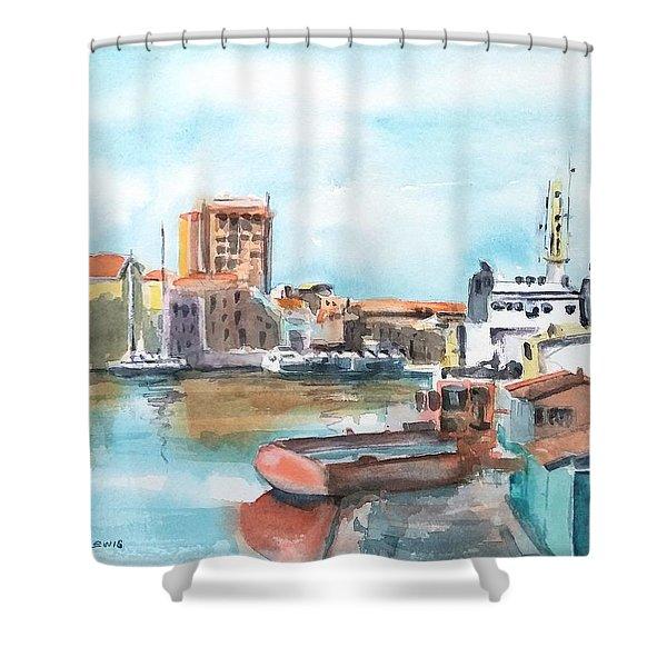 A Curacao Morning Shower Curtain