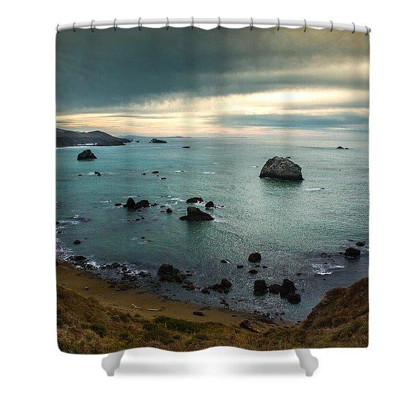 A Dark Day At Sea Shower Curtain