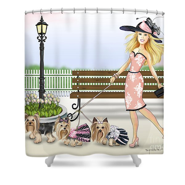 A Day At The Derby Shower Curtain