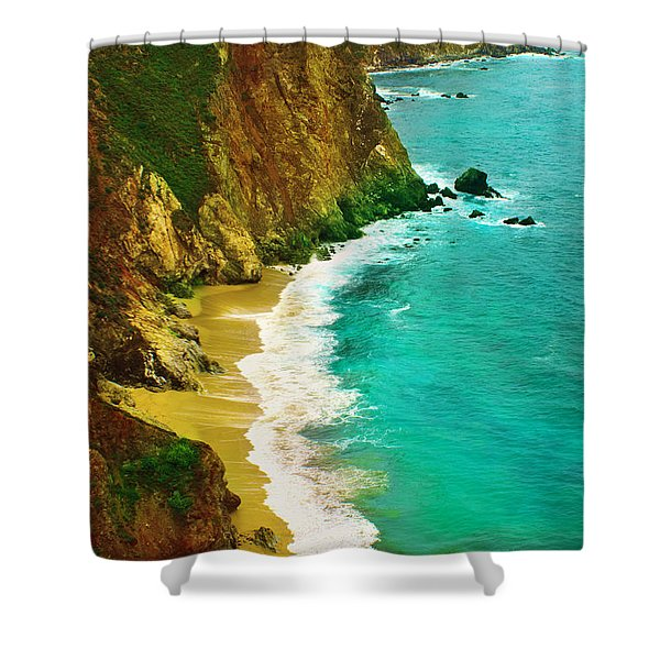 A Day On The Ocean Shower Curtain