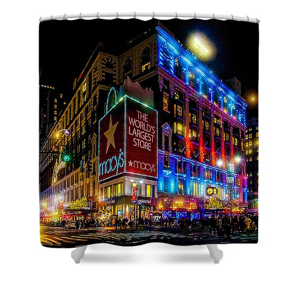 A December Evening At Macy's  Shower Curtain