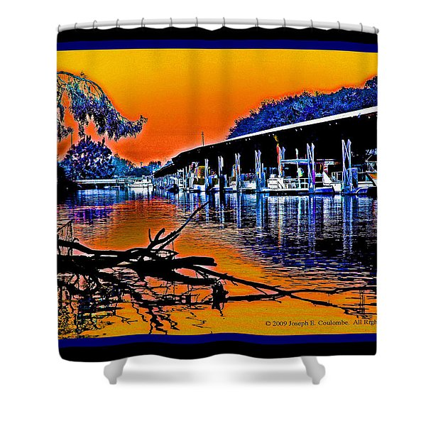 A Delta Sunset  Shower Curtain