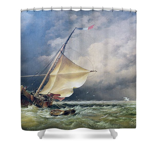 A Dutch Beurtman Aground Shower Curtain