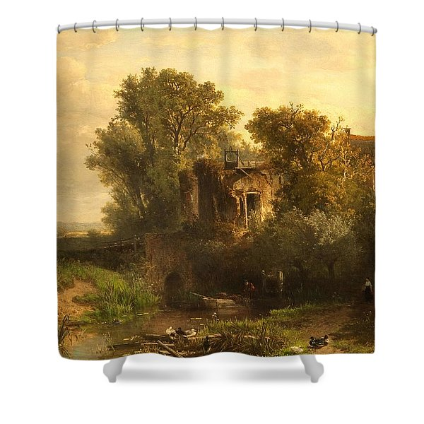 A Dutch Landscape Shower Curtain