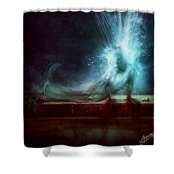 A Dying Wish Shower Curtain