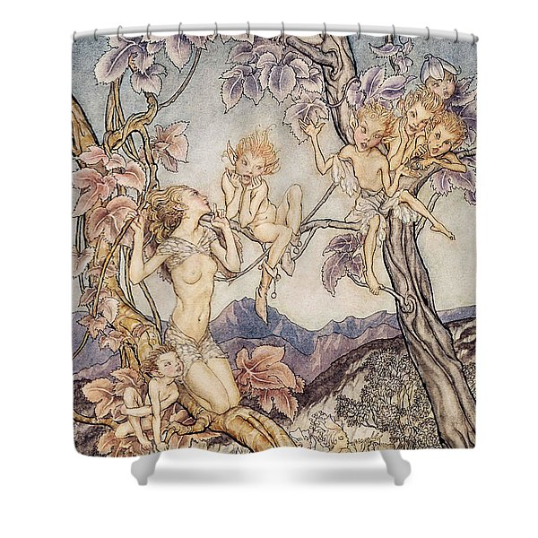 A Fairy Song From A Midsummer Nights Dream Shower Curtain