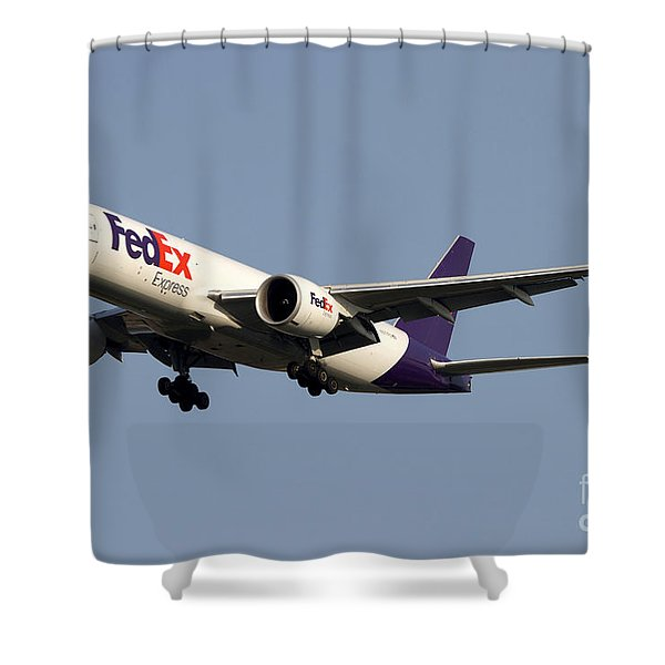A Federal Express Boeing 777f Cargo Shower Curtain