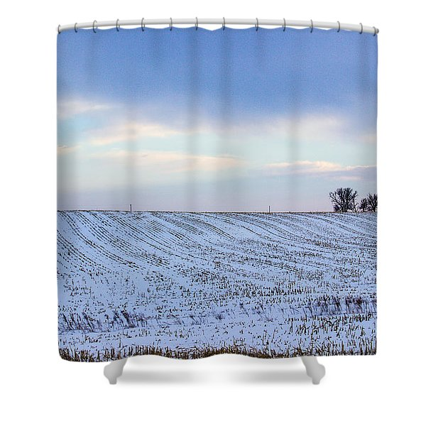 A Field In Iowa At Sunset Shower Curtain