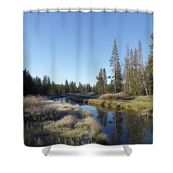 A Frosty Morning Along Obsidian Creek Shower Curtain