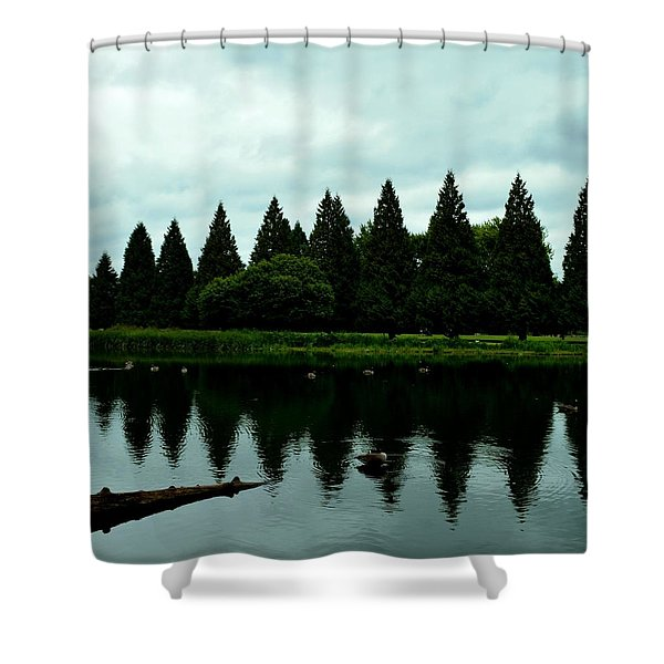 A Gaggle Of Pines Shower Curtain