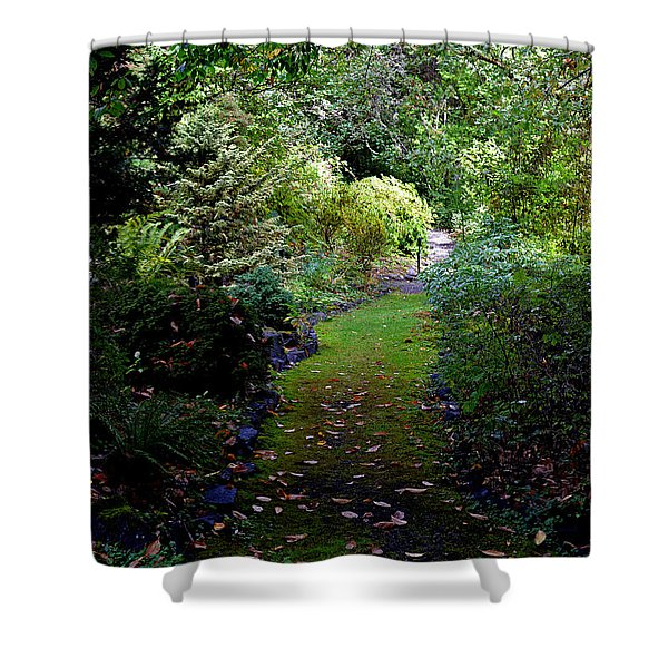 A Garden Path Shower Curtain