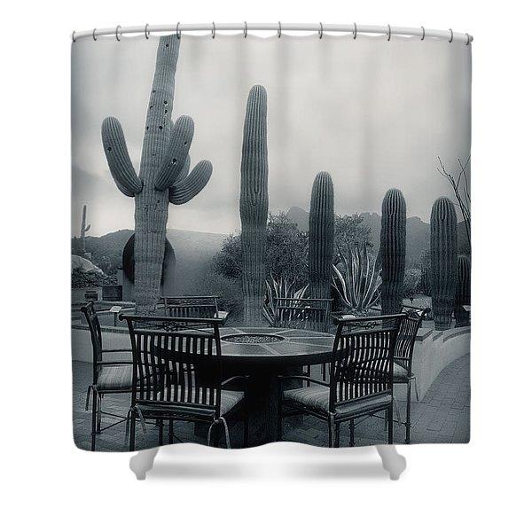 A Gentle Winter Rain Shower Curtain
