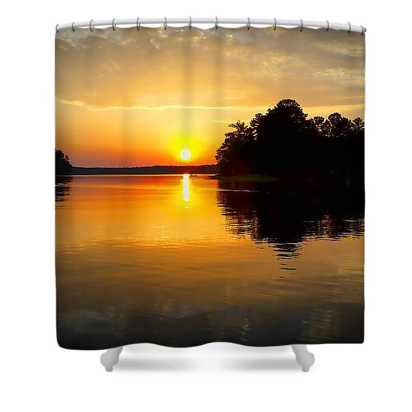A Golden Moment Shower Curtain