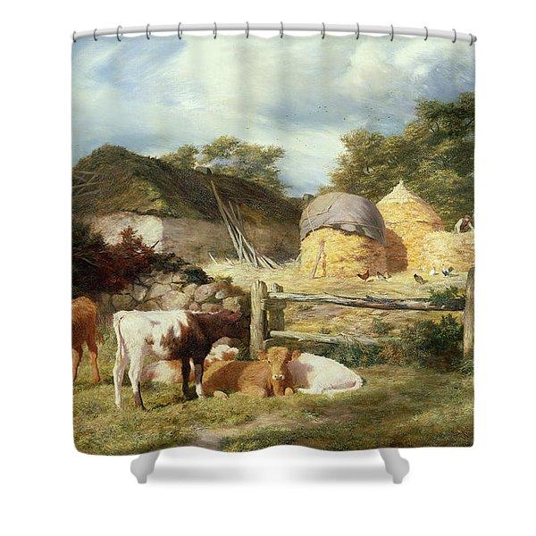A Highland Croft, 1873 Shower Curtain