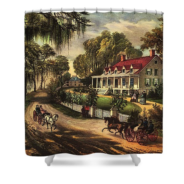 A Home On The Mississippi Shower Curtain